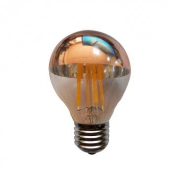 Λάμπα COG LED Half Rose Gold Retro 4W E27 2700K Dimmable