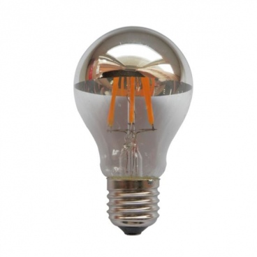Λάμπα COG LED Half Silver Vintage 6W E27 2700K Dimmable