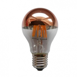 Λάμπα COG LED Half Rose Gold Vintage 6W E27 2700K Dimmable
