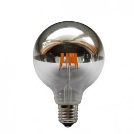 Λάμπα COG LED Half Silver Globe Ø95 6W E27 2700K Dimmable (GLOBE956WWDIMS)