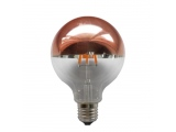 Λάμπα COG LED Half Rose Gold Globe Ø95 6W E27 2700K Dimmable (GLOBE956WWDIMG)