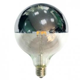 Λάμπα COG LED Half Silver Globe Ø125 6W E27 2700K Dimmable (GLOBE1256WWDIMS)