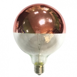 Λάμπα COG LED Half Rose Gold Globe Ø125 6W E27 2700K Dimmable (GLOBE1256WWDIMG)