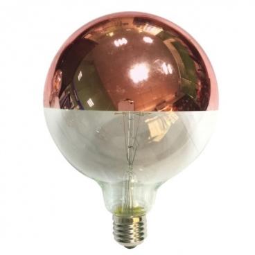 Λάμπα COG LED Half Rose Gold Globe Ø125 6W E27 2700K Dimmable