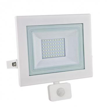 LED SMD Λευκός προβολέας με αισθητήρα κίνησης X 50W 120° 3000K (X5030WS)