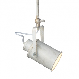 Aca Vintage Spot Οροφής Λευκό Πατίνα (OD61011AW)