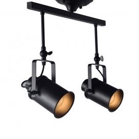 Aca Vintage Spot Οροφής 2 Φώτων Μαύρο (OD61012BK)