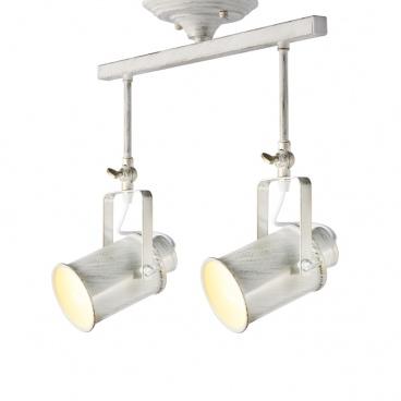 Aca Vintage Spot Οροφής 2 Φώτων Λευκό Πατίνα (OD61012AW)