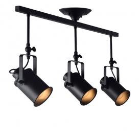 Aca Vintage Spot Οροφής 3 Φώτων Μαύρο (OD61013BK)