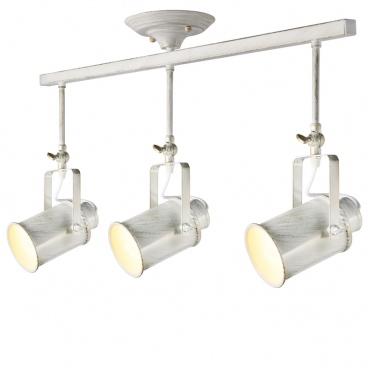 Aca Vintage Spot Οροφής 3 Φώτων Λευκό Πατίνα (OD61013AW)
