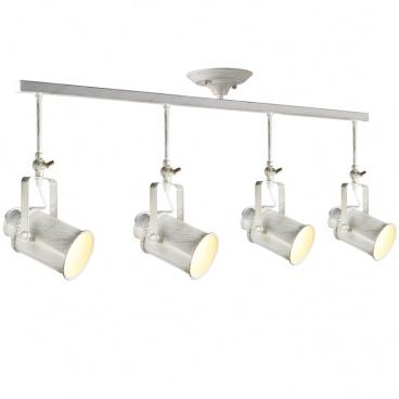Aca Vintage Spot Οροφής 4 Φώτων Λευκό Πατίνα (OD61014AW)