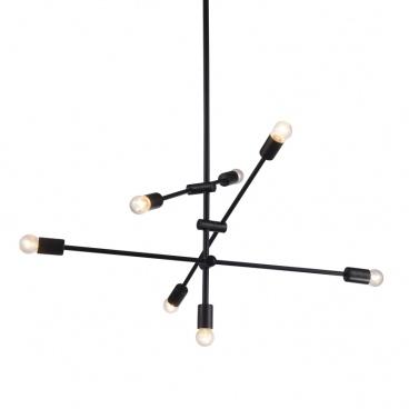 Aca Vintage Φωτιστικό Οροφής Μαύρο Ø400 (OD680107BK)