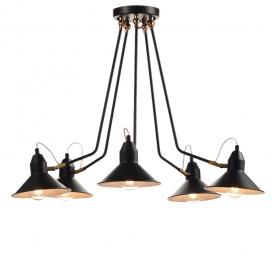 Aca Vintage Πολύφωτο Φωτιστικό Οροφής Μαύρο (KS19915PB)