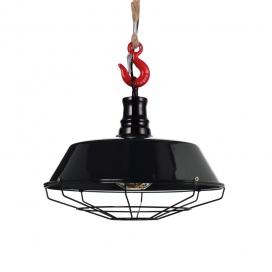 Aca Vintage Μονόφωτο Φωτιστικό Οροφής Μαύρο (OD8039BK)