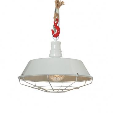 Aca Vintage Μονόφωτο Φωτιστικό Οροφής Λευκό (OD8039WH)