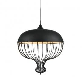 Aca Vintage Μονόφωτο Φωτιστικό Οροφής Μαύρο (AD8040BK)