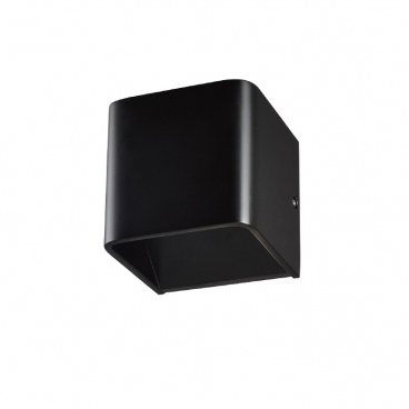 Aca Led Απλίκα Μαύρη 3000K (L35037BK)