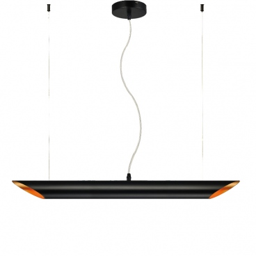 Aca Φωτιστικό Οροφής Μαυρό (V362952PBG)