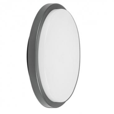 Aca LED Στρογγυλή απλίκα με γκρι πλαίσιο (SLIM5201)