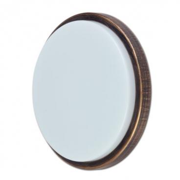 Aca LED Στρογγυλή απλίκα με πλαίσιο στο χρώμα της σκουριάς (SLIM5201R)