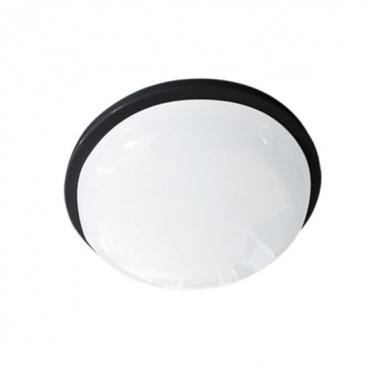 Aca LED SMD επίτοιχη απλίκα & πλαφονιέρα Μαύρη 15W 6000Κ (DAMAS1560B)