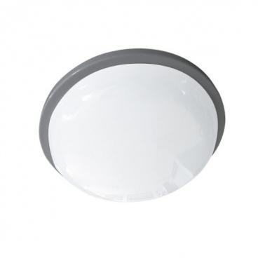 Aca LED SMD επίτοιχη απλίκα & πλαφονιέρα Γκρι 15W 6000Κ (DAMAS1560G)