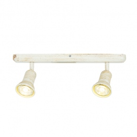 Aca Spot Οροφής 2 Φώτων Λευκό Αντικέ (SU282PAW)
