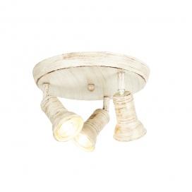 Aca Spot Οροφής 3 Φώτων Λευκό Αντικέ (SU283PAW)