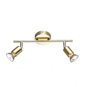 Aca Spot Οροφής 2 Φώτων Χρυσό (MC634PB2)