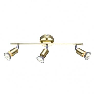 Aca Spot Οροφής 3 Φώτων Χρυσό (MC634PB3)