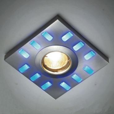 Aca LED DIP χωνευτό σποτ οροφής 12 LED BLUE (GL810006)