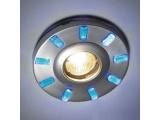 Aca LED DIP χωνευτό σποτ οροφής 9 LED BLUE (GL810007)