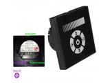 Ψηφιακό Dimmer Χειροκίνητο Αφής Χωνευτό Μαύρο για λάμπες Led 230V (30-32201)