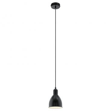 Eglo Priddy Μονόφωτο Φωτιστικό Μαύρο