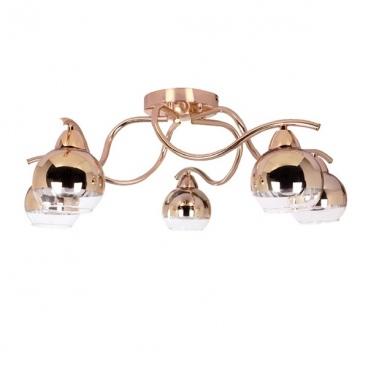 Aca Πεντάφωτο Φωτιστικό Οροφής Χρυσό - Χάλκινο (TNK81444CG5H)