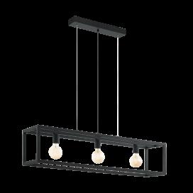 Eglo Elswick Industrial Πολύφωτο Φωτιστικό Μαύρο (49564)