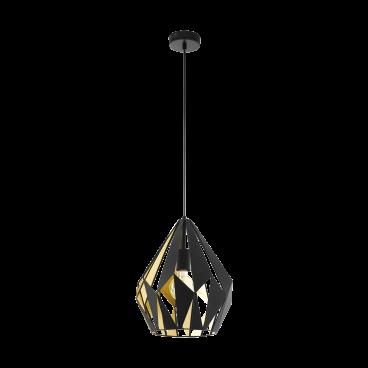 Eglo Carlton 1 Vintage Φωτιστικό Μαύρο - Χρυσό (49931)