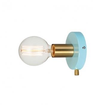 Aca Επιτοίχιο Φωτιστικό Τιρκουάζ (V36382MB)