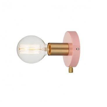Aca Επιτοίχιο Φωτιστικό Ροζ (V36382PB)