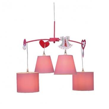 Aca Παιδικό Φωτιστικό Οροφής Ροζ(MD91044)