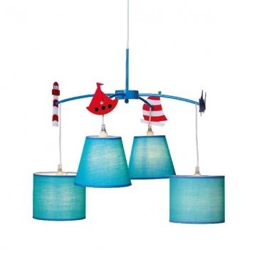 Aca Παιδικό Φωτιστικό Οροφής Μπλε(MD91054)