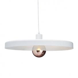 Aca Κρεμαστό Φωτιστικό Οροφής Ø60 Λευκό(OD5392LWH)