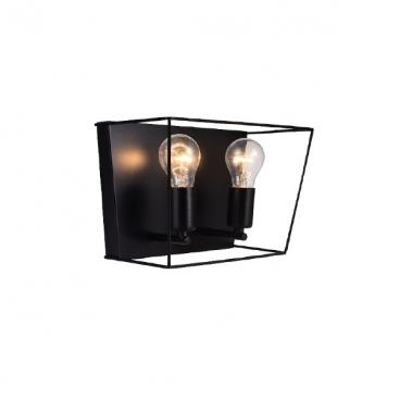 Aca Επιτοίχιο Φωτιστικό Μαύρο(OD61022WB)
