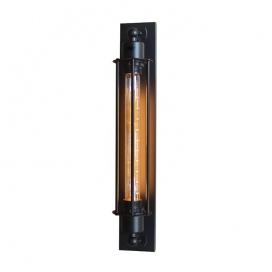 Aca Vintage Επιτοίχιο Φωτιστικό Μαύρο (KS2049W1BK)