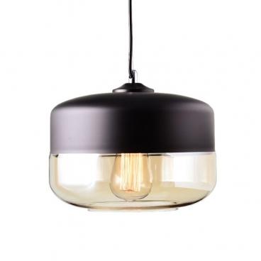 Aca Vintage Φωτιστικό Οροφής Μαύρο Ø25 (OYD10143A1BKAM)