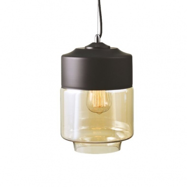 Aca Vintage Φωτιστικό Οροφής Μαύρο Ø18 (OYD10143B1BKAM)