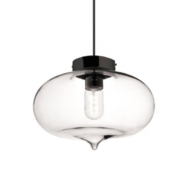 Aca Vintage Φωτιστικό Οροφής Διάφανο Ø27 (V292891PCL)