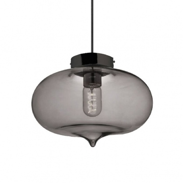 Aca Vintage Φωτιστικό Οροφής Φιμέ Ø27 (V292891PGY)