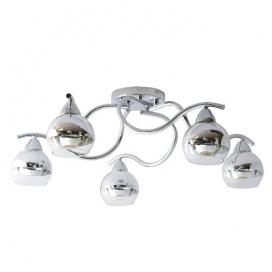Aca Πεντάφωτο Φωτιστικό Οροφής Χρώμιο (TNK81444CR5H)