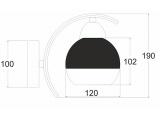 Aca Επιτοίχιο Φωτιστικό Χρώμιο (TNK81444CR1W)